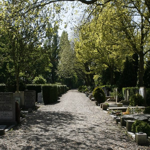 Begraafplaats Vredenhof.  Adres: Haarlemmerweg 367, 1051 LH Amsterdam.